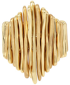 Robert Lee Morris Soho Gold-Tone Multi-Stick Stretch Ring