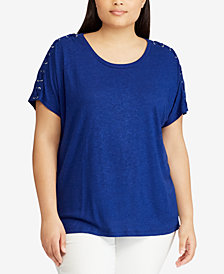 Lauren Ralph Lauren Plus Size Straight Fit Top