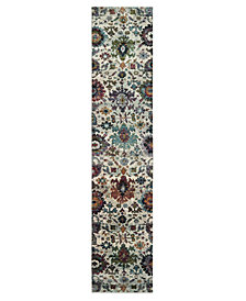 "Macy's Fine Rug Gallery Journey Catalan Stone 2' 6"" x 12' Runner"