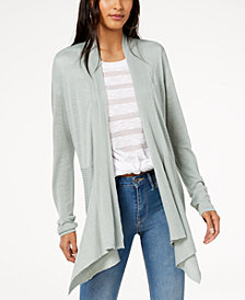 I.N.C. Ribbed Open-Front Cardigan, Created for Macy's