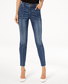 I.N.C. Seamed Skinny Jeans, Created for Macy's