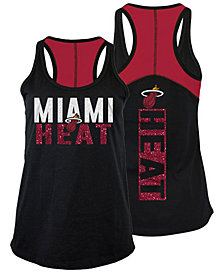 5th & Ocean Women's Miami Heat Glitter Tank