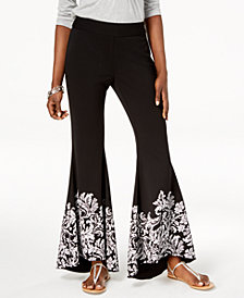 I.N.C. Printed Flare-Leg Pants, Created for Macy's