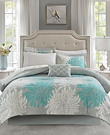 Arlene Reversible 9-Pc. Queen Comforter Set