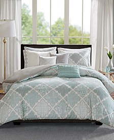 Cadence Cotton 8-Pc. King/California King Duvet Cover Set