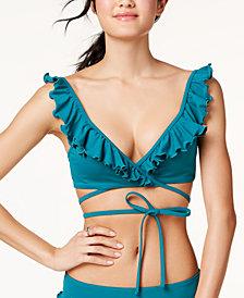 SUNDAZED Bra-Sized Wrap Bikini Top, Created for Macy's
