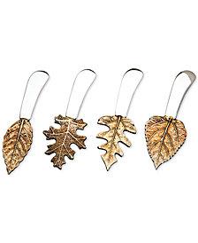 Godinger Brass Leaf Spreaders, Set of 4