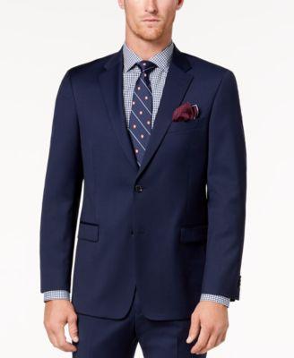 Men's Modern-Fit TH Flex Stretch Navy Twill Suit Jacket