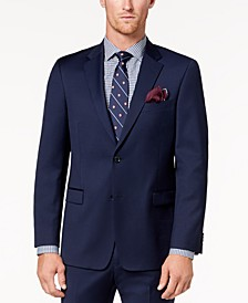 Men's Modern-Fit TH Flex Stretch Navy Twill Suit Jacket