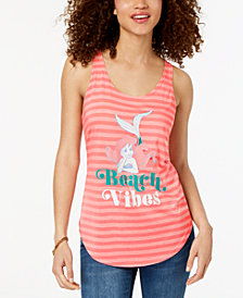Hybrid Juniors' Beach Vibes Graphic-Print Tank Top