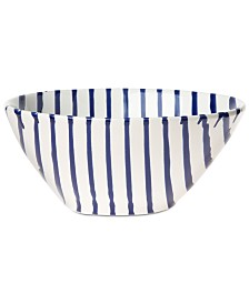 Vietri Net & Stripe Stripe Cereal Bowl