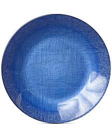 VIETRI Glitter Glass Cobalt Service Plate/Charger