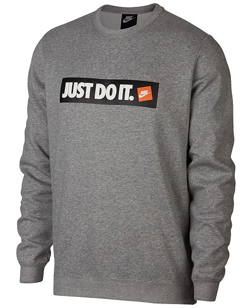 698e883a3079 Nike Men s Sportswear Just Do It Logo Sweatshirt   Reviews ...
