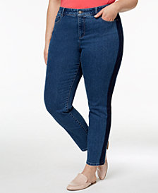 Charter Club Plus Size Tummy-Control Skinny Jeans, Created for Macy's