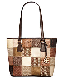 Giani Bernini Multi Patchwork Tote, Created for Macy's