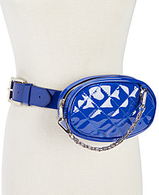 Steve Madden Quilted Swag-Chain Fanny Pack