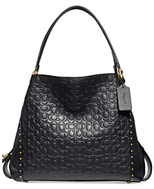 COACH Edie 31 Signature Shoulder Bag