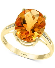 EFFY® Citrine (4-1/5 ct. t.w.) & Diamond Accent Ring in 14k Gold