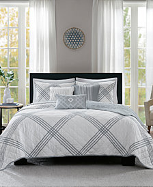Madison Park Albany Reversible 6-Pc. Full/Queen Quilted Coverlet Set