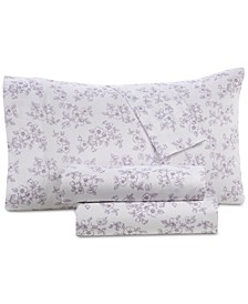 Printed Organic 4-Pc. Queen Sheet Set, 500 Thread Count GOTS Certified Cotton