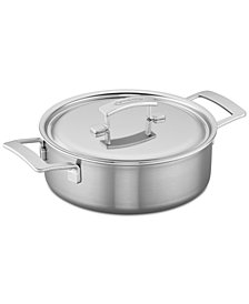 Demeyere Industry 4-Qt. Stainless Steel Deep Sauté Pan