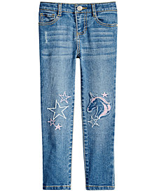 Epic Threads Little Girls Embroidered Unicorn Jeans, Created for Macy's