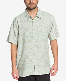Quiksilver Men's Waterman Aku Aku Fish Printed Shirt
