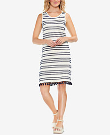 Vince Camuto Striped Tassel-Hem Dress