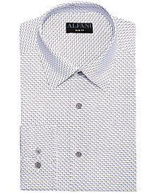 AlfaTech by Alfani Men's Classic/Regular Fit Performance Stretch Dot Seven Dress Shirt, Created For Macy's