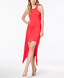 Material Girl Juniors' Knot-Front High-Low Dress, Created for Macy's