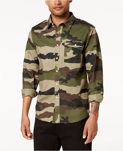 Sean John Men s Camo Shirt - Casual Button-Down Shirts - Men - Macy s 7609c796a6d