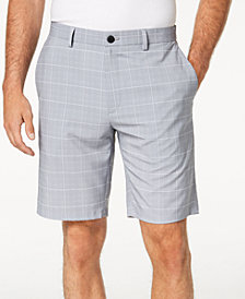 "Alfani Men's Box Grid-Print 9"" Shorts, Created for Macy's"