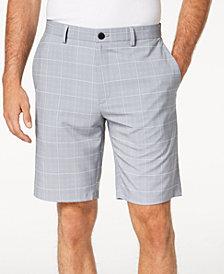 "Alfani Men's Box Grid-Print 9"" Shorts, Created for Macy's"