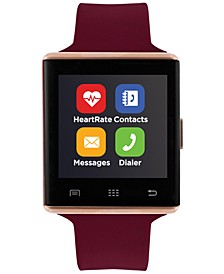 Unisex Air 2 Merlot Silicone Strap Bluetooth Smart Watch 41mm