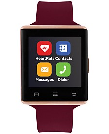 iTouch Unisex Air 2 Merlot Silicone Strap Bluetooth Smart Watch 41mm