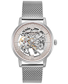 Kenneth Cole New York Men's Automatic Stainless Steel Mesh Bracelet Watch 43mm