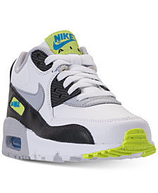 Nike Boys' Air Max 90 Leather Running Sneakers from Finish Line