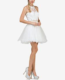 Dancing Queen Juniors' Embellished Lace Dress