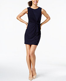 Jessica Howard Petite Draped Twist-Detail Sheath Dress