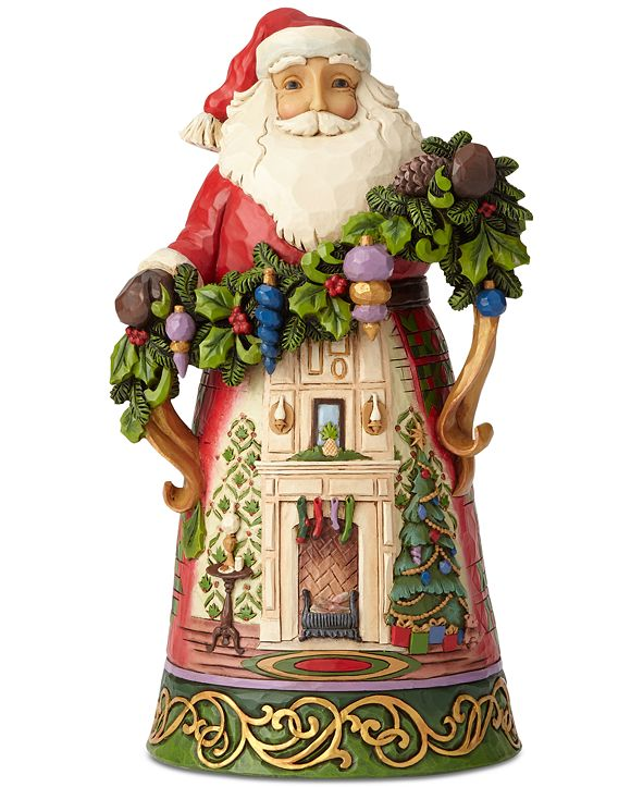 Enesco Jim Shore Santa with Fireplace Scene