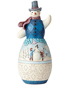 Jim Shore Snowman with Winter Scene Figurine