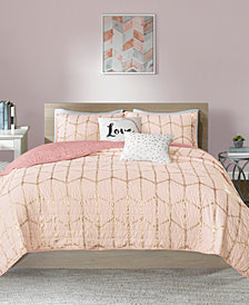Intelligent Design Raina Reversible 4-Pc. Quilted Twin/Twin XL Coverlet Set
