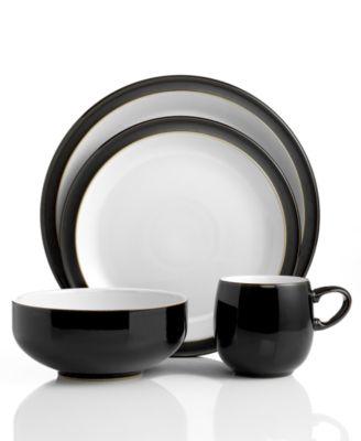 Denby Dinnerware Jet Black 4 Piece Place Setting  sc 1 st  Macyu0027s & Denby Dinnerware Jet Black 4 Piece Place Setting - Dinnerware ...