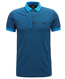 BOSS Men's Slim-Fit Oxford Cotton Polo