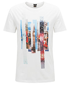 BOSS Men's Graphic-Print Cotton T-Shirt