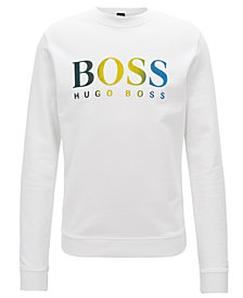 BOSS Men's French-Terry Logo-Graphic Cotton Sweatshirt