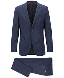 BOSS Men's Slim-Fit Plain-Check Suit