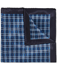 BOSS Men's Checked Silk Pocket Square