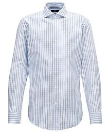 BOSS Men's Slim-Fit Gingham Checked Cotton Shirt