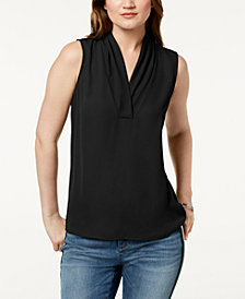 I.N.C. Sleeveless Draped Top, Created for Macy's